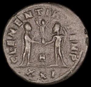 Ancient Coins - Numerian Antoninianus - CLEMENTIA TEMP - Cyzicus Mint