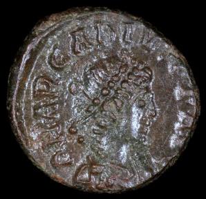 Ancient Coins - Arcadius Ae4 - VOT V - Antioch Mint