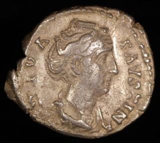 Ancient Coins - Faustina I Denarius - AETERNITAS - Rome Mint