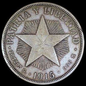 World Coins - 1915 Cuba 1 Peso -