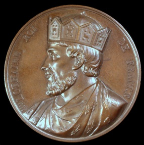 World Coins - 1838 France - Lothair, Carolingian king of West Francia (954 - 986) by Armand-Auguste Caqué for the