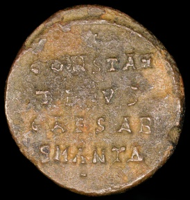 Ancient Coins - Constantine II Follis - CONSTAN / TINVS / CAESAR - Antioch Mint