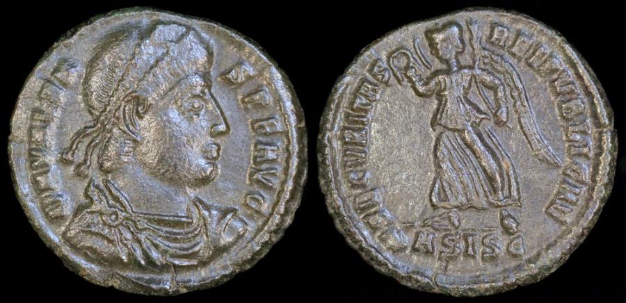 Ancient Coins - Valens Ae3 - SECVRITAS REIPVBLICAE - Siscia Mint
