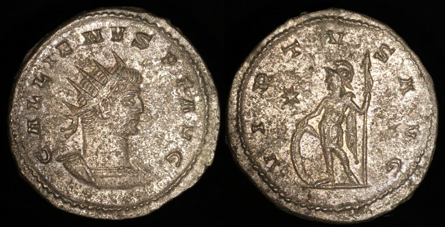 Ancient Coins - Gallienus Antoninianus - VIRTVS AVG - Antioch Mint