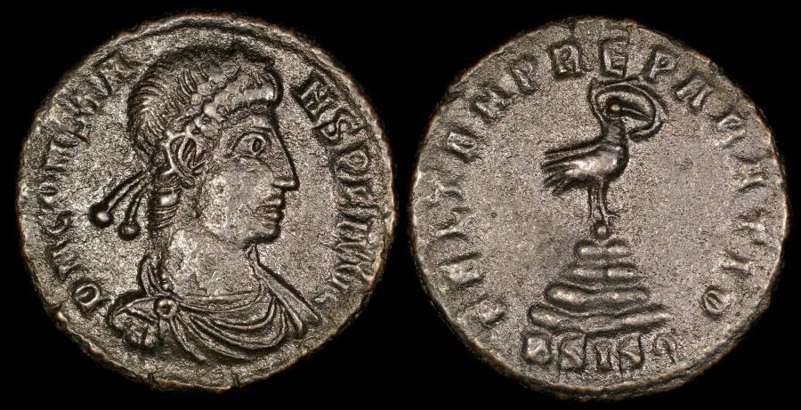 Ancient Coins - Constans 1/2 Centenionalis - FEL TEMP REPARATIO - Siscia