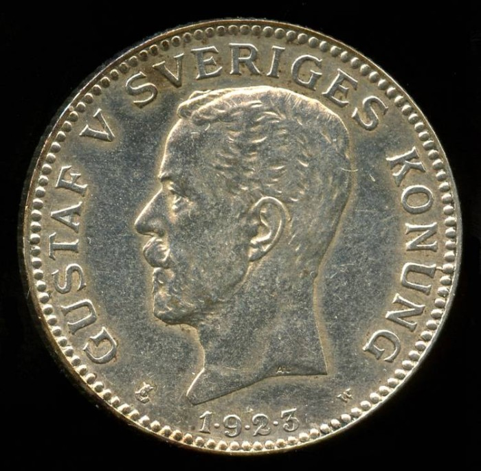 1923 W Sweden 1 Krona BU