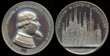 World Coins - 1886  Italy - Milan Cathedral - 500th Anniversary of the Start of Construction by Francesco Broggi