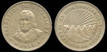 World Coins - 1939 Nicaragua 50 Centavos AU