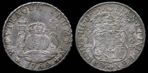 World Coins - 1769 Mo-MF Mexico 8 Reales - Mexico City Mint - Charles III - XF