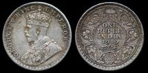 World Coins - 1919 (c) India (British) 1 Rupee XF