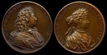 World Coins - 1679  France - Louis XV - The Dauphin and the Dauphine by Michel Molart