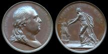 World Coins - 1814  France - Louis XVII Return to Calais France by Jean-Bertrand Andrieu and Nicolas Guy Antoine Brenet.