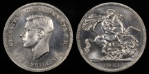"World Coins - 1951 Great Britain 1 Crown ""Festival of Britain"" - George VI - Proof-Like"