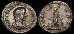 Ancient Coins - Geta Denarius - PONTIF COS II - Rome Mint