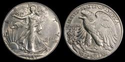 Us Coins - 1941 P Walking Liberty Half Dollar UNC