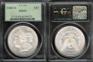 Us Coins - 1880s Morgan Dollar PCGS MS63