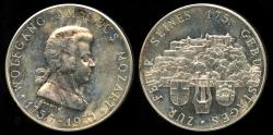 World Coins - 1931  Austria - Wolfgang Amadeus Mozart 175th Birthday Celebration by Arnold Hartig