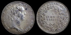 World Coins - 1732 France - Jeton - King Louis XV - Protector of the French Academy (to the Immortals) by Jean Duvivier