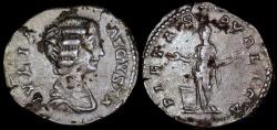 Ancient Coins - Julia Domna Denarius - PIETAS AVGVSTA - Rome Mint