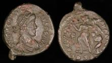Ancient Coins - Theodosius I  Ae4 - SALVS REIPVBLICAE - Thessalonica Mint
