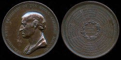 "World Coins - 1815 Great Britain - Benjamin West - Royal Institution ""Christ in the Temple"" Painting Purchase Medal"