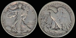 Us Coins - 1935 S Walking Liberty Half Dollar VG