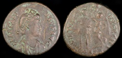 Ancient Coins - Arcadius Ae3 - VIRTVS EXERCITI - Constantinople Mint