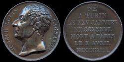 World Coins - 1818  France - Joseph-Louis Lagrange, born Giuseppe Luigi Lagrancia, an Italian mathematician and astronomer by Donadio.