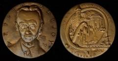 World Coins - 1955 France – French Mathematician Arnaud Denjoy Commemorative Medal