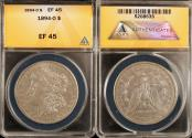 Us Coins - 1894o Morgan Dollar ANACS EF45