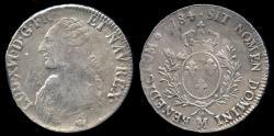 World Coins - 1784 M France 1 Ecu - Louis XVI - Toulouse Mint - VF