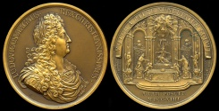 World Coins - 1714  France - Fulfillment of the Vow of Louis XIII by Jean Dollin and Joseph Roettiers