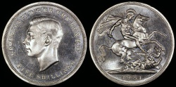 World Coins - 1951 Great Britain 1 Crown - George VI - Proof-Like