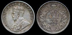 World Coins - 1919 (c) India (British) 1 Rupee XF