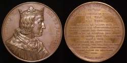 "World Coins - 1837 France - Philip VI, ""The Fortunate"", first King of France from the House of Valois (1328 - 1350) by Armand-Auguste Caqué for the ""Kings of France Series"" #50"
