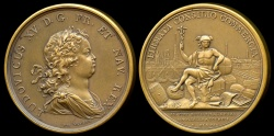 World Coins - 1719  France - Louis XV - Creation of the Chamber of Commerce in Rouen by Jean Duvivier and Jean le Blanc