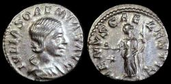 Ancient Coins - Julia Soaemia Denarius - VENVS CAELESTIS - Rome Mint