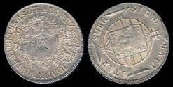 World Coins - 1833-34 (ND) Brazil - Ceara 960 Reis Counterstrike AU