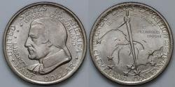 Us Coins - 1936 Cleveland Centennial / Great Lakes Exposition Commemorative Silver Half Dollar (Only 50,030 were struck) - BU
