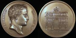 World Coins - 1806 France - Napoleon - Arc of Triumph on the Carrousel by Jean-Bertrand Andrieu, Nicolas Guy Antoine Brenet and Dominique-Vivant Denon