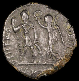 Ancient Coins - Honorius Ae3 - VIRTVS EXERCITI - Nicomedia Mint