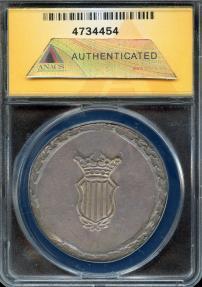 World Coins - 1809 Spain (Tarragona Province) 5 Pesetas ANACS AU50