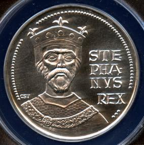 World Coins - 1972 BP Hungary 100 Forint - 1000th Anniversary of the Birth of Saint Stephen Silver Commemorative ANACS MS67