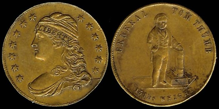 US Coins - 1852 General Tom Thumb Medal