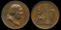 World Coins - 1817 France - King Louis XVIII - Restoration of Henri IV Statue by Jean-Bertrand Andrieu, Auguste Francois Michaut and Baron Jean-Pierre Casimir de Marcassus, Baron de Puymaurin