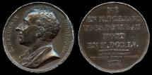 World Coins - 1817 France - Charles-Louis de Secondat, Baron de La Brède et de Montesquieu (a French social commentator and political thinker)  by Francois-Augustin Caunois