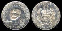 World Coins - 1975 Peru 200 Soles BU