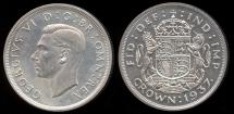 World Coins - 1937 Great Britain 1 Crown - George VI - Proof