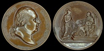 World Coins - 1814 France - Louis XVIII - Constitutional Charter by Jean-Bertrand Andrieu, Louis Jaley and Jean-Pierre Casimir de Marcassus, Baron de Puymaurin