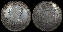 World Coins - 1773 FM Mexico 8 Reales - Carolus III - AU